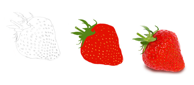 Drawing a Realistic Strawberry using Photoshop