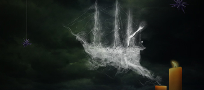 Making a Mysterious Ship in Photoshop
