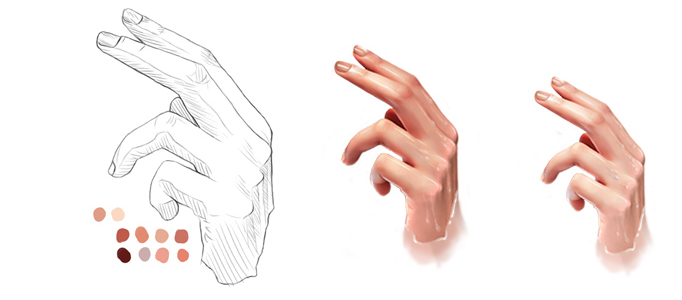 Drawing a Realistic Human Hand using Photoshop