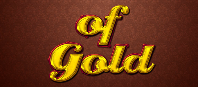 Making a Nice Shiny Golden Text Effect