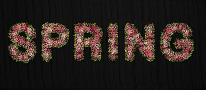 Making of a Flowery Text Effect