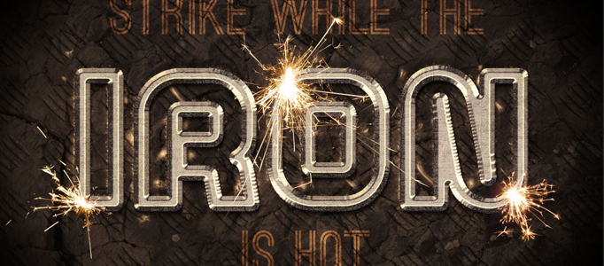 Design a Wonderful Sparkling Typography