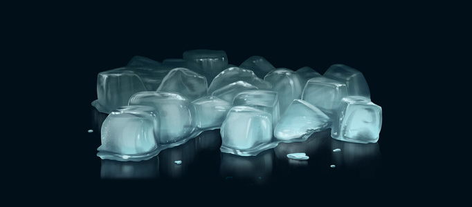 Drawing some Realistic Icy Cubes
