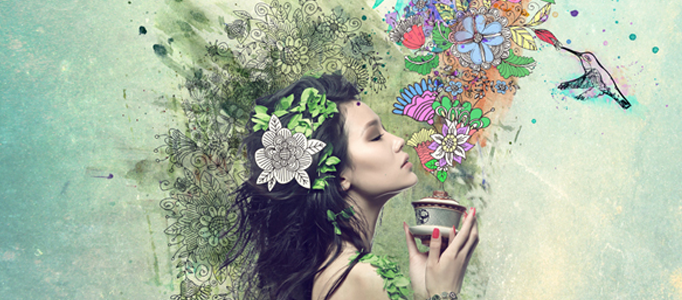 Making a Flowery Lady in Photoshop