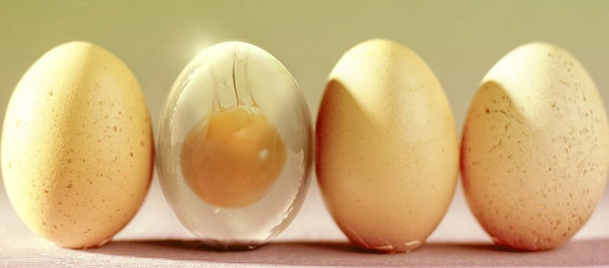 Making a Semi Transparent Egg