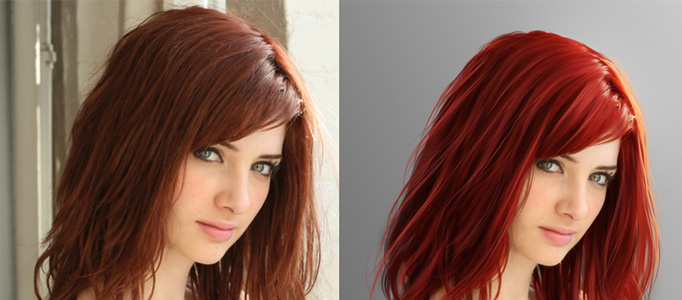 Making a Different Hair Style in Photoshop , Photoshop Lady