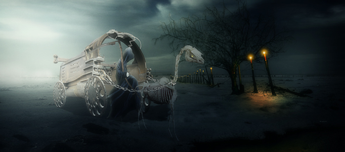 Making a Special Carriage in Night Scene