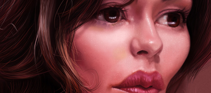 Painting a Cute Lady Portrait in Photoshop