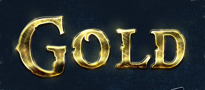 Shining Golden Text Effect Creation