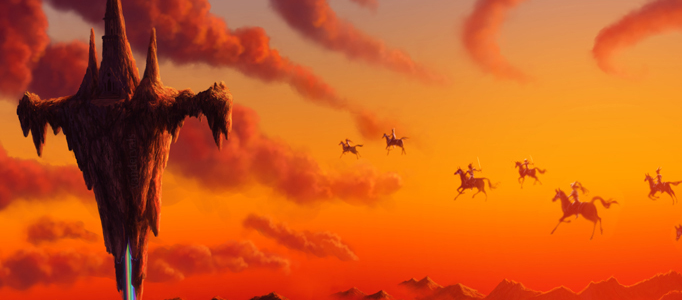 Riding Horse in Sky using Photoshop