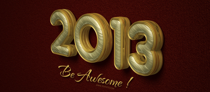 Elegant Text Effect for 2013