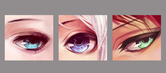 Making Different Styles of Eyes for Cartoon Images