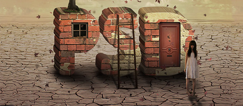 Creation of Brick Effect for Text