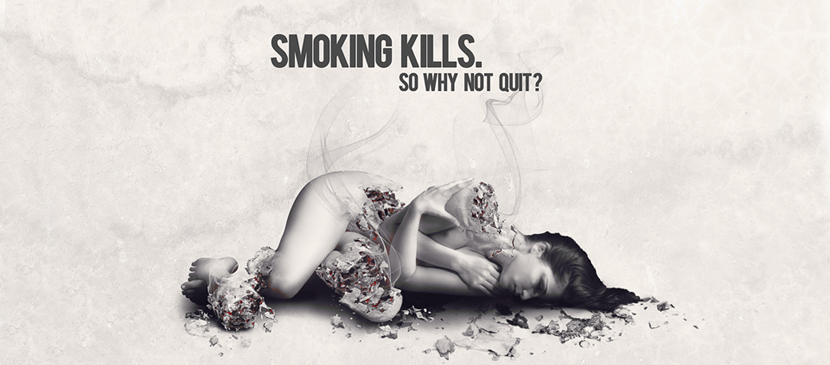 Create an Anti-Smoke Advertisement Poster