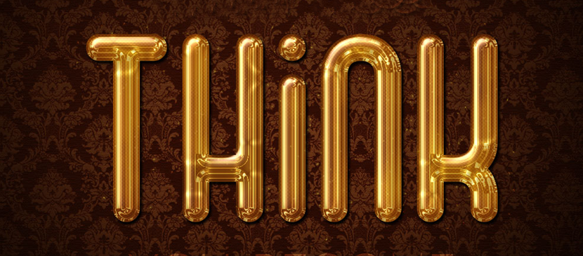 Design a Shiny Golden Text Effect