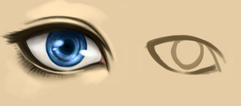 Drawing a Human Eye for Cartoon Characters