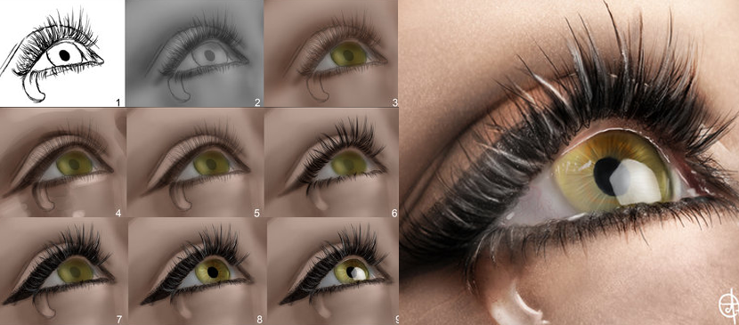 Making a Realistic Human Eye in Photoshop