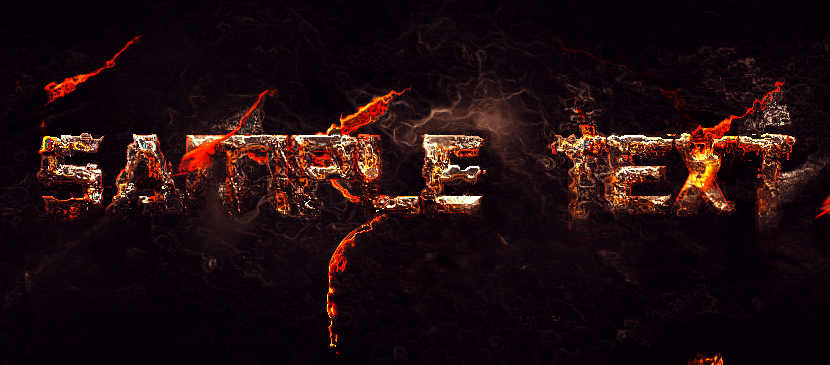 Create Text Effect in Lava Style