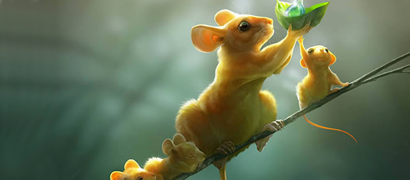 Create a Whole Family of Mice on a Branch