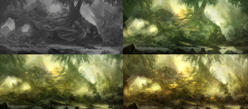 Concept for Painting a Beautiful Forest