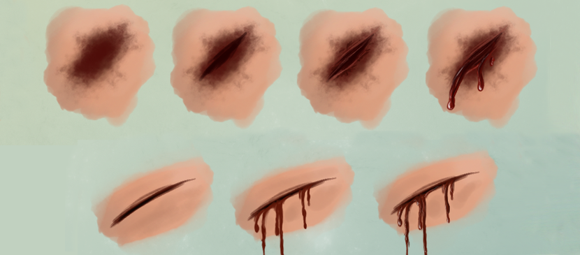 Making Realistic Wound and Blood in Photoshop