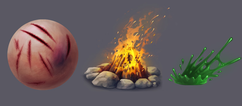 Create Realistic Fire, Splashing Liquid and Wounds
