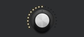 Create a Detailed Audio Rotary Knob Control