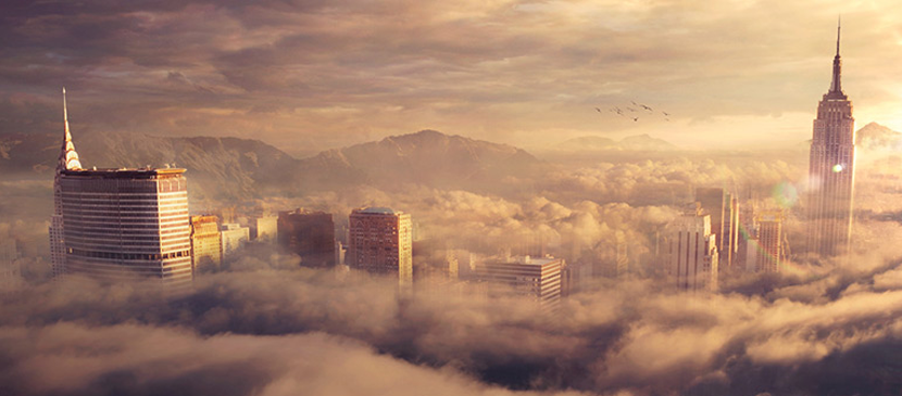 Create a Beautiful Sky City using Photoshop