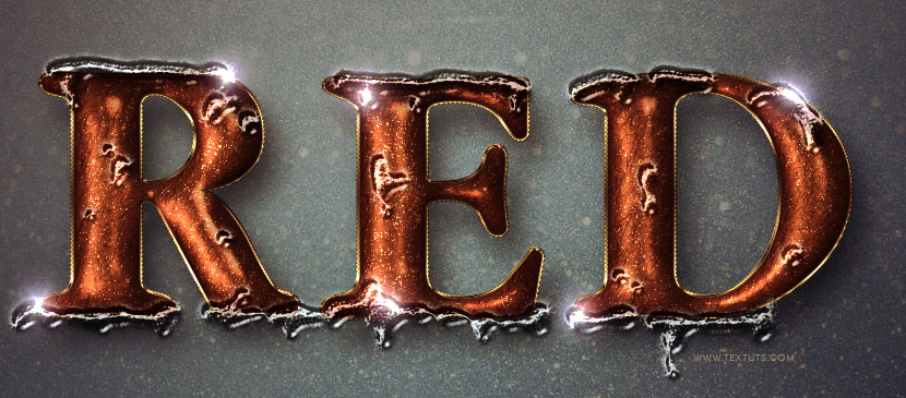 Making a Melting Text Effect in Red