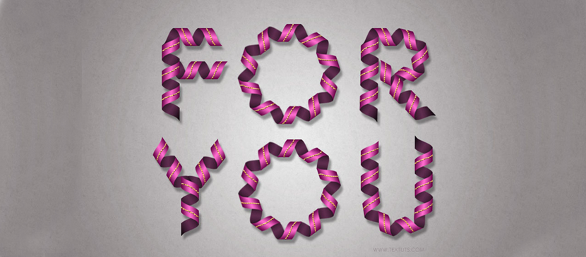 Twisted Ribbon Text Effect