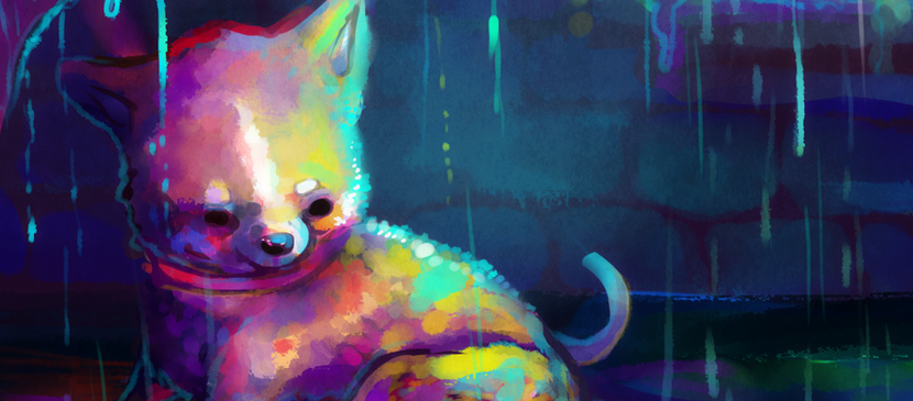 Watercolor Painting for a Cute Puppy in Photoshop