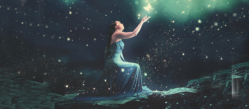 Manipulation for a Lady under a Beautiful Night Sky