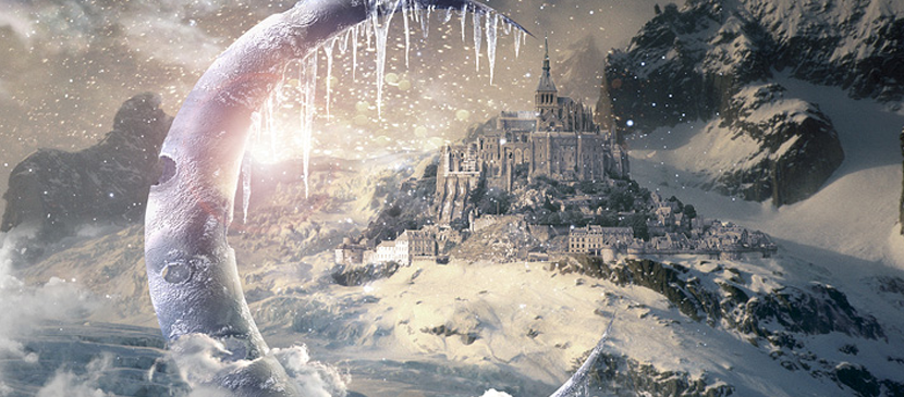 Create an Icy Moon with a Beautiful Snowing Scene