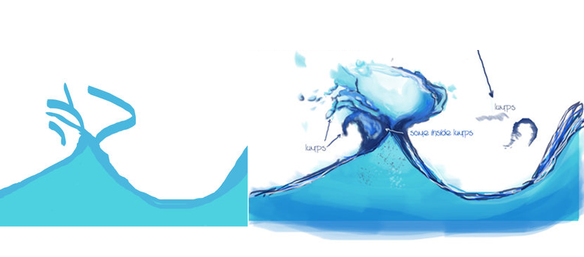 Making a Nice Water Splashing Effect