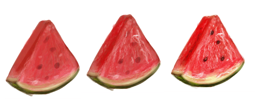 Step by Step to Draw Watermelon