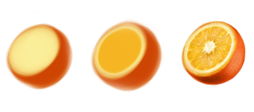 Step by Step to Draw a Realistic Orange