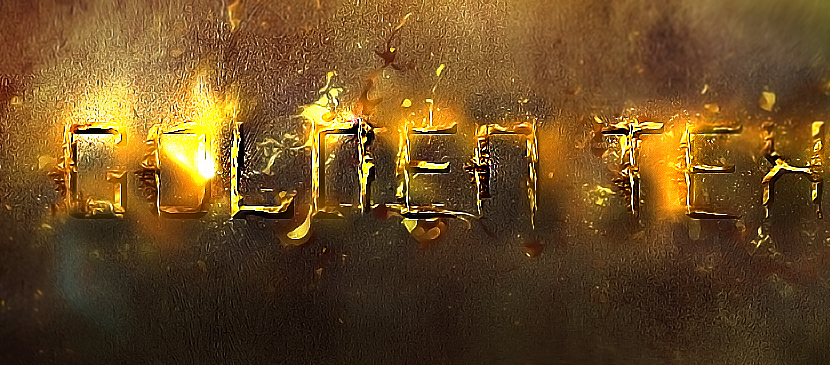 Shiny Golden Typography in Photoshop