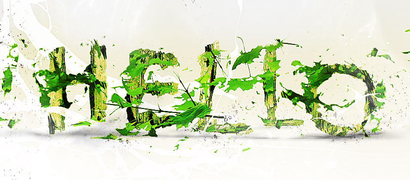 Making a Leafy Effect for Text