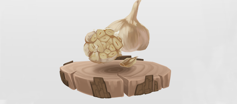 Making some Realistic Garlic using Photoshop