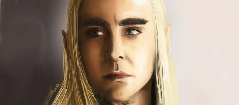 Digital Painting for a Movie Character Portrait