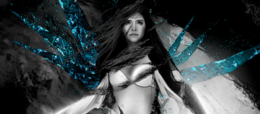 Photo Manipulation for a Female Icy Warrior