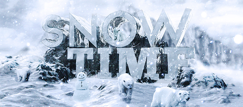 Making 3D Snowing Effect for Text in Photoshop
