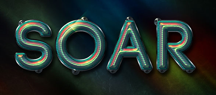Making a Colorfully Shiny Text Effect
