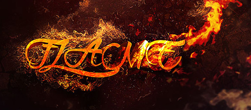 Making a Dramatic Fire Text Effect