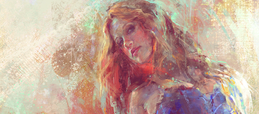 Painting a Beautiful Woman Artwork