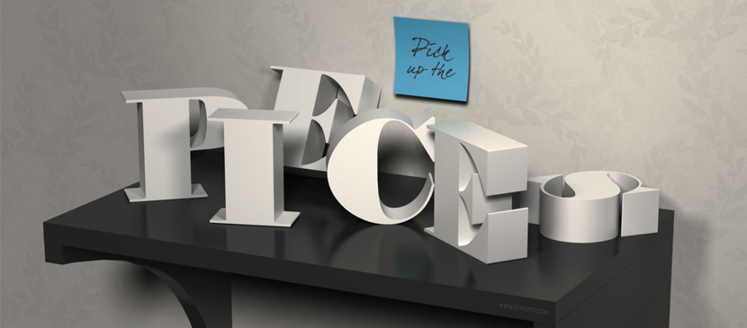 Making a Sophisticated 3D Text Art in Photoshop