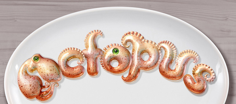Making 3D Octopus Text Effect