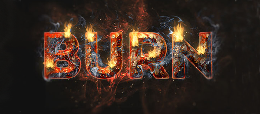Create a Fiery and Rusty Text Effect