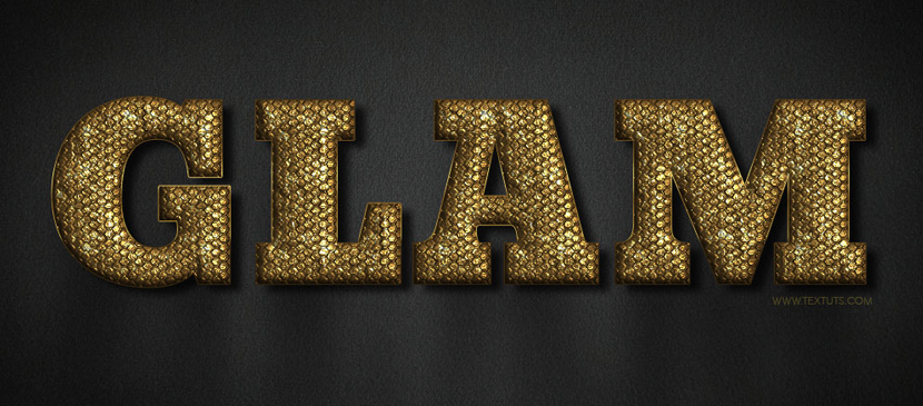 Making a Golden Text Effect in a Metallic Style
