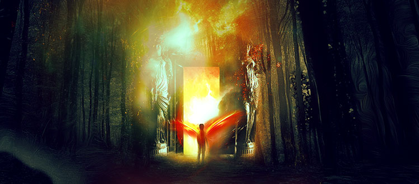 Manipulating a Heaven Door in Photoshop